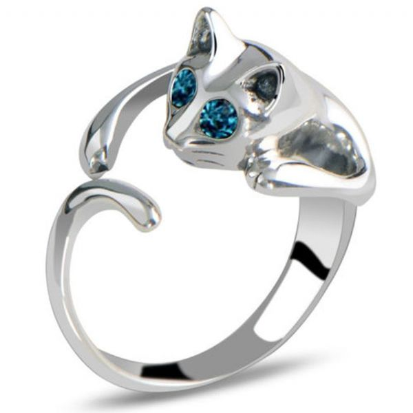 Embelished Cat Ring